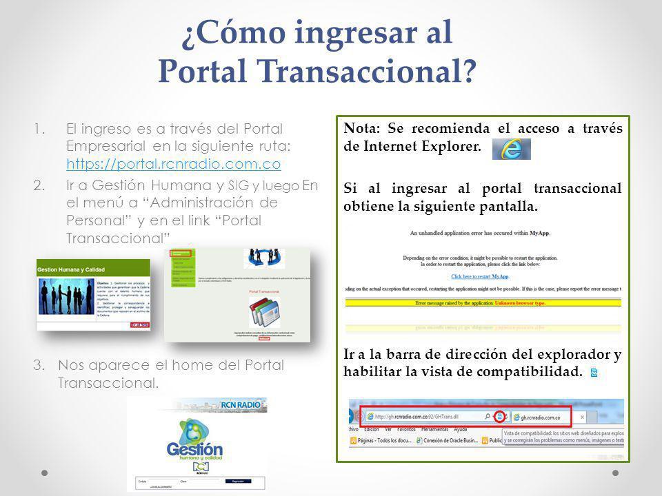 ¿Cómo ingresar al Portal Transaccional