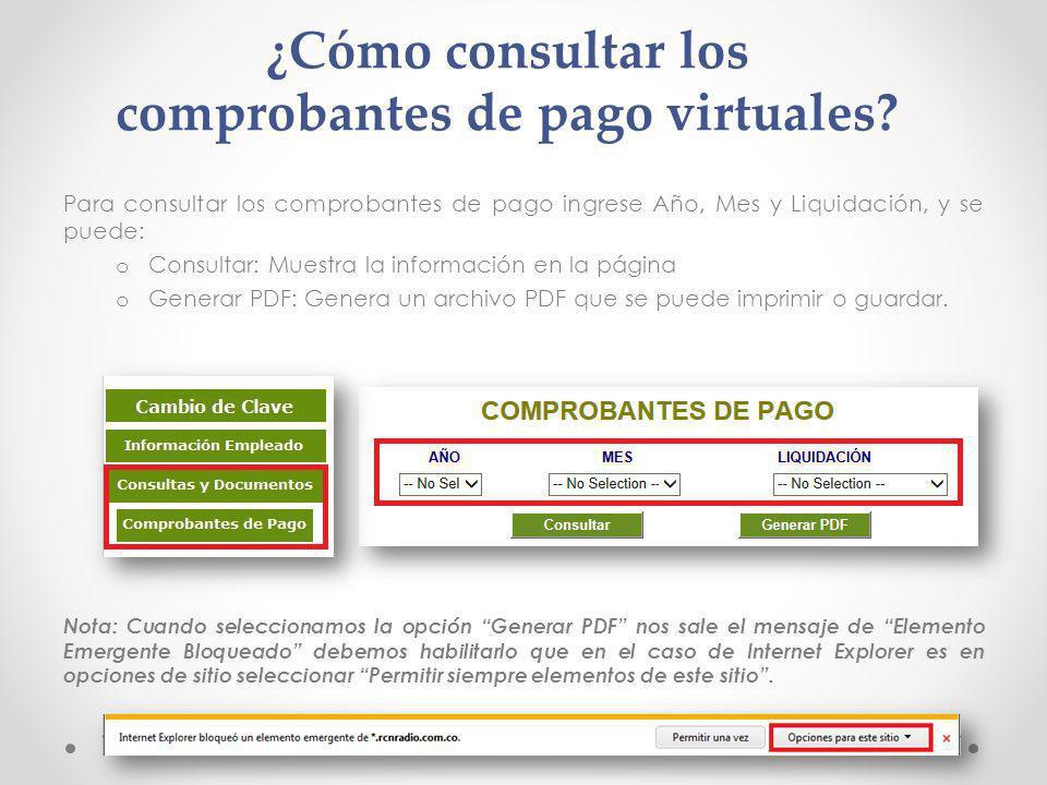 ¿Cómo consultar los comprobantes de pago virtuales