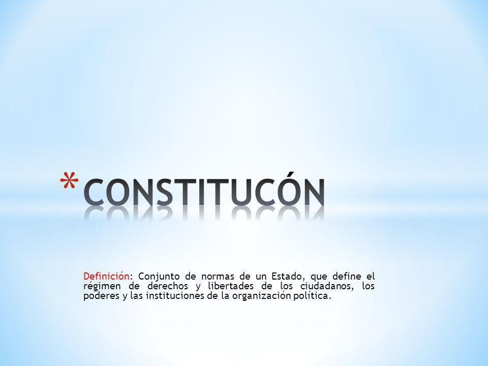 CONSTITUCÓN