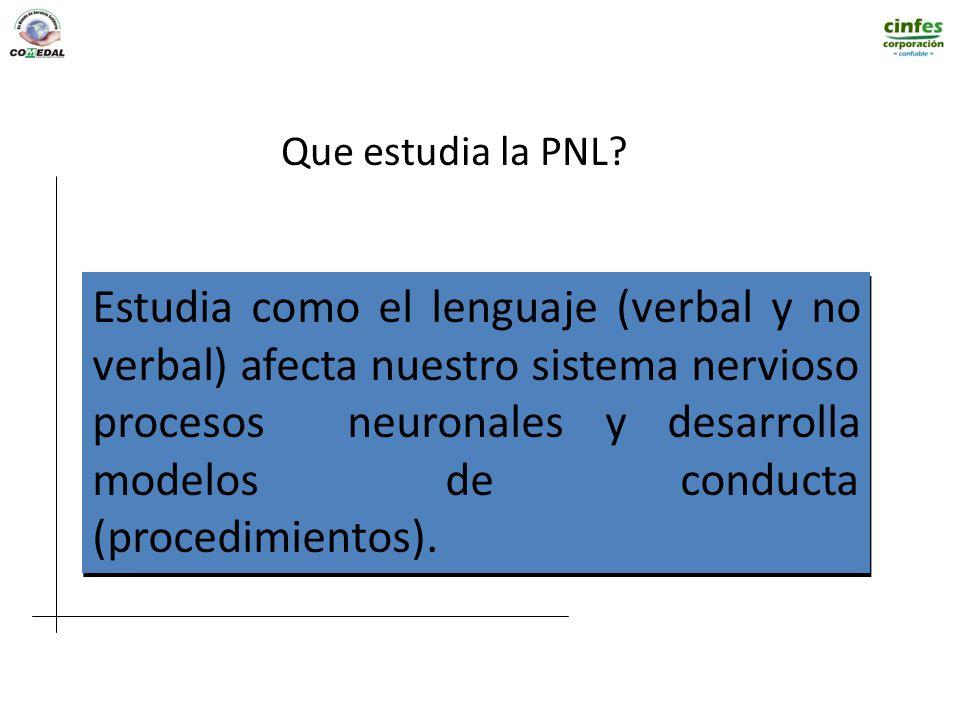 Que estudia la PNL