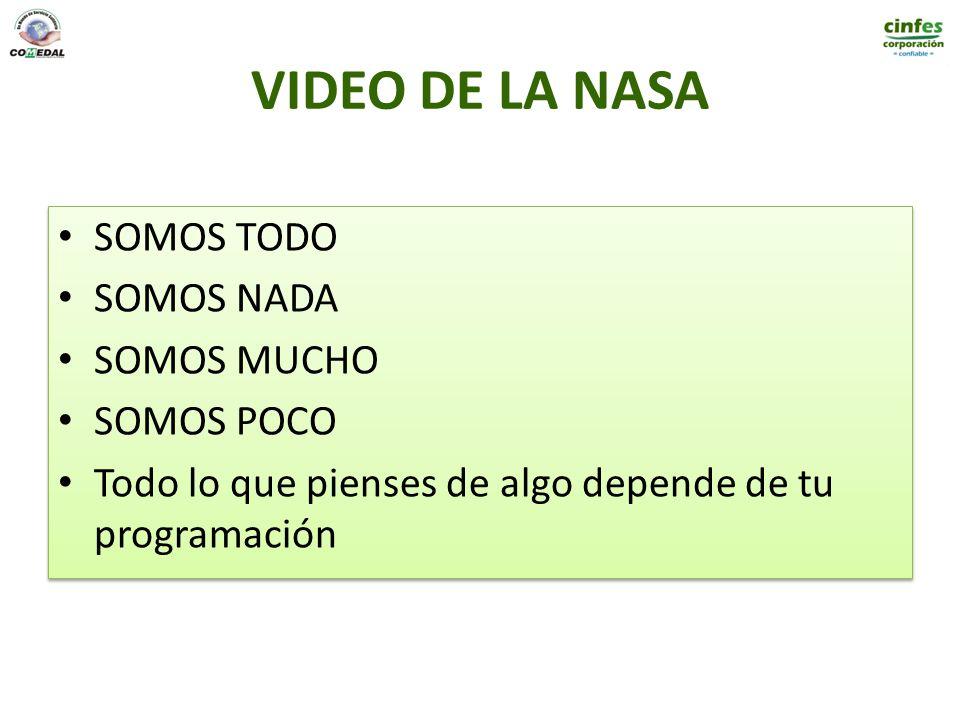 VIDEO DE LA NASA SOMOS TODO SOMOS NADA SOMOS MUCHO SOMOS POCO