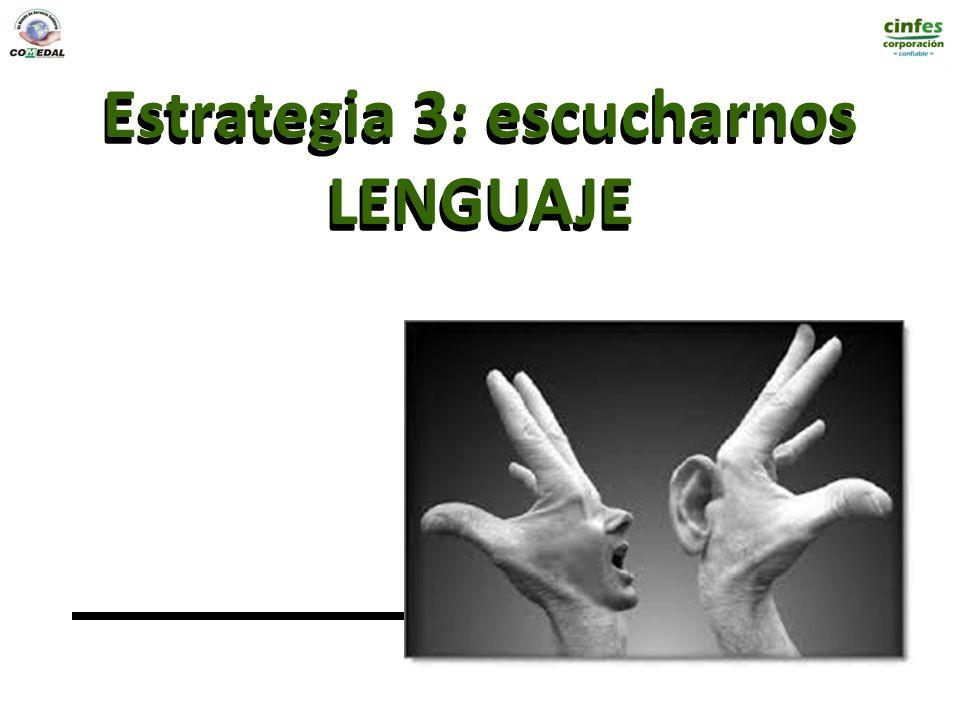 Estrategia 3: escucharnos