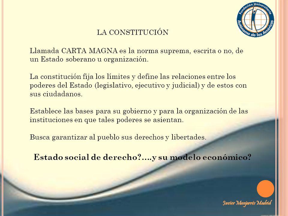 Estado social de derecho ….y su modelo económico