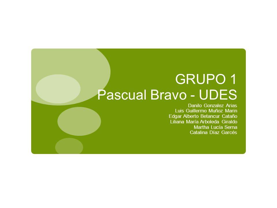 GRUPO 1 Pascual Bravo - UDES
