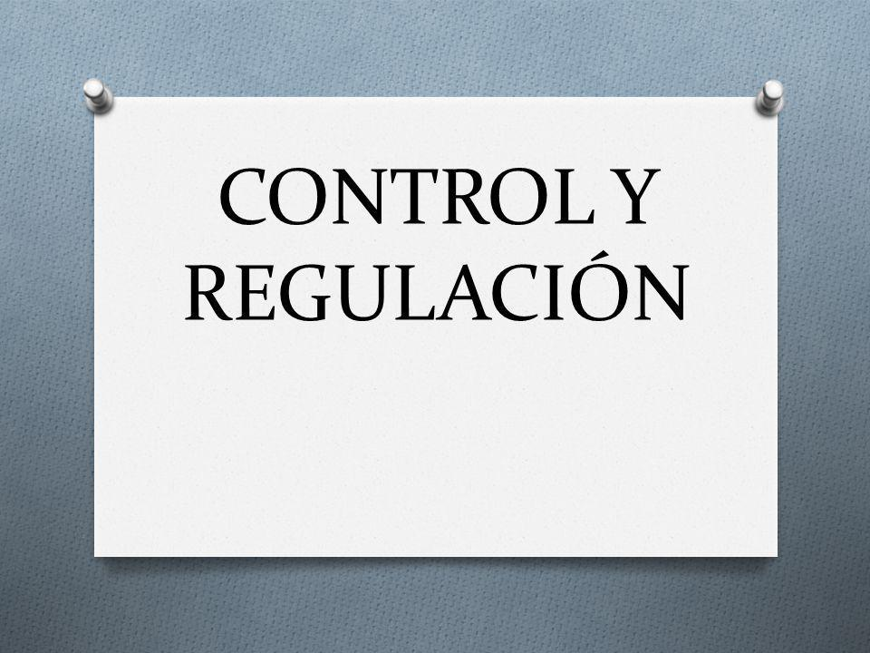 CONTROL Y REGULACIÓN