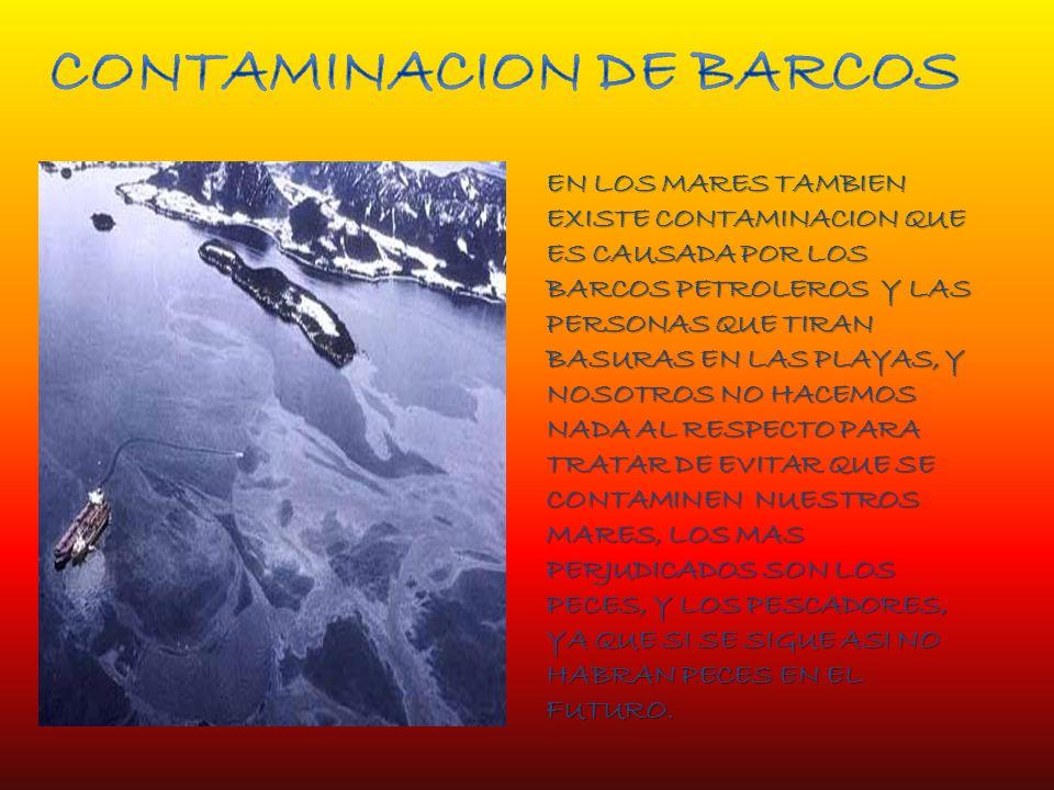 CONTAMINACION DE BARCOS