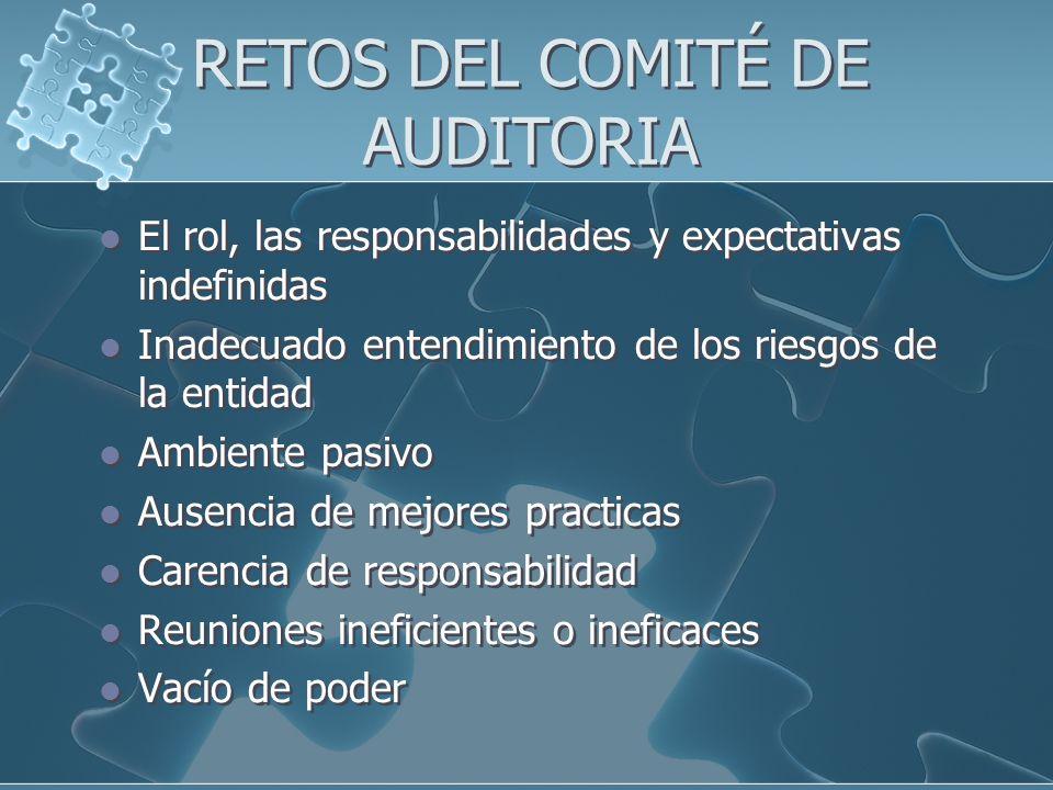 RETOS DEL COMITÉ DE AUDITORIA