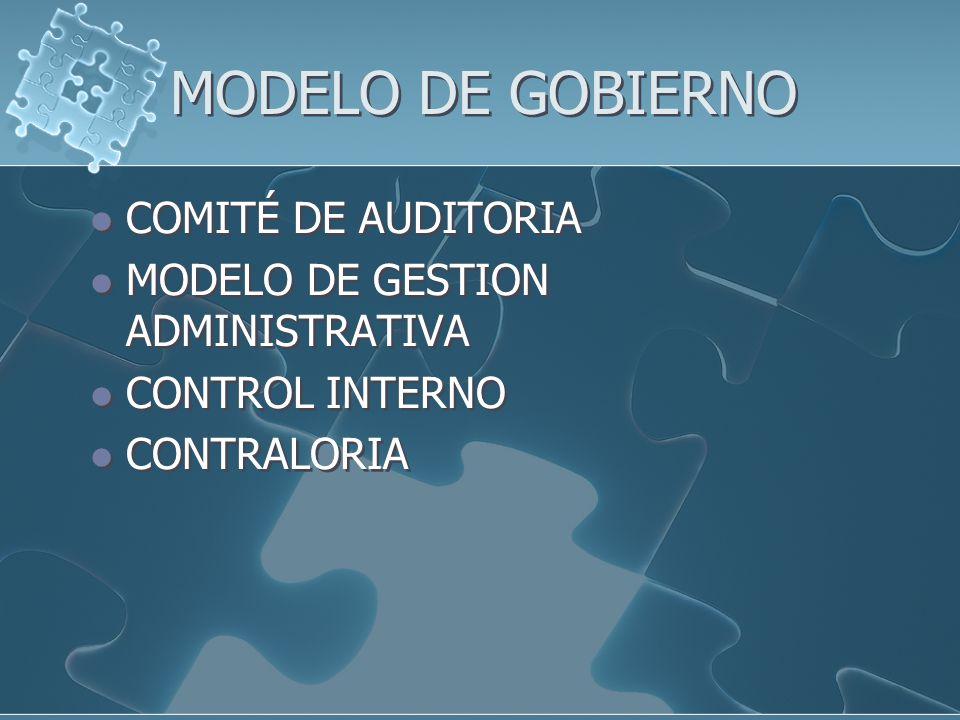 MODELO DE GOBIERNO COMITÉ DE AUDITORIA
