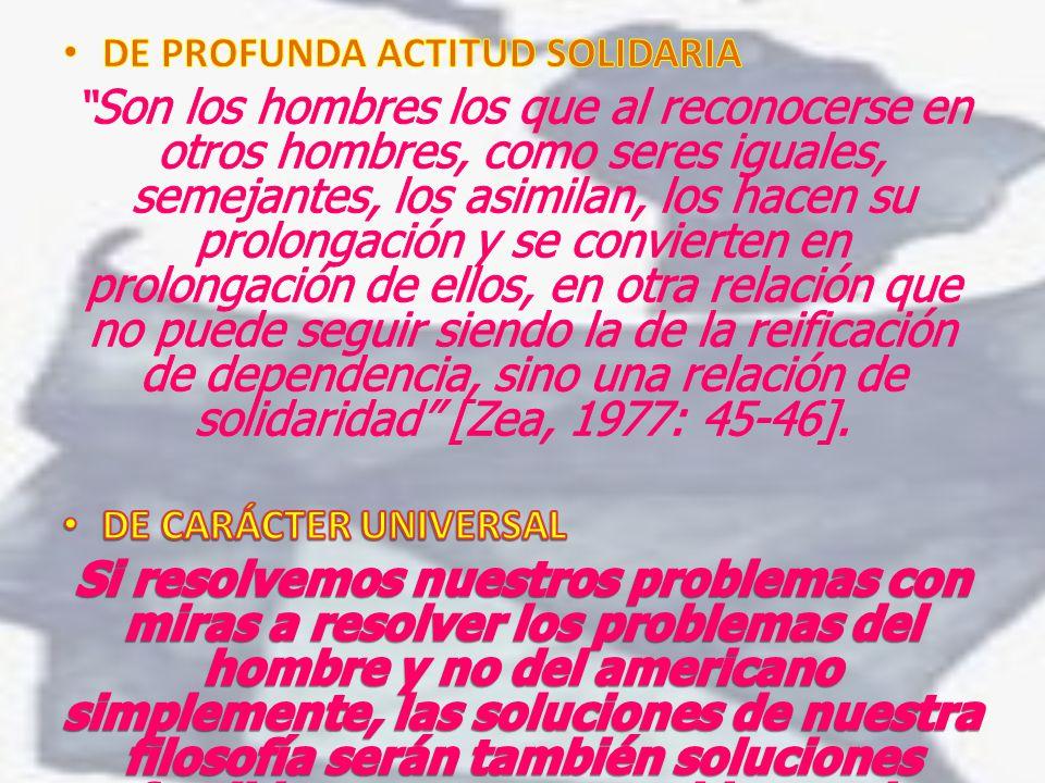 DE PROFUNDA ACTITUD SOLIDARIA