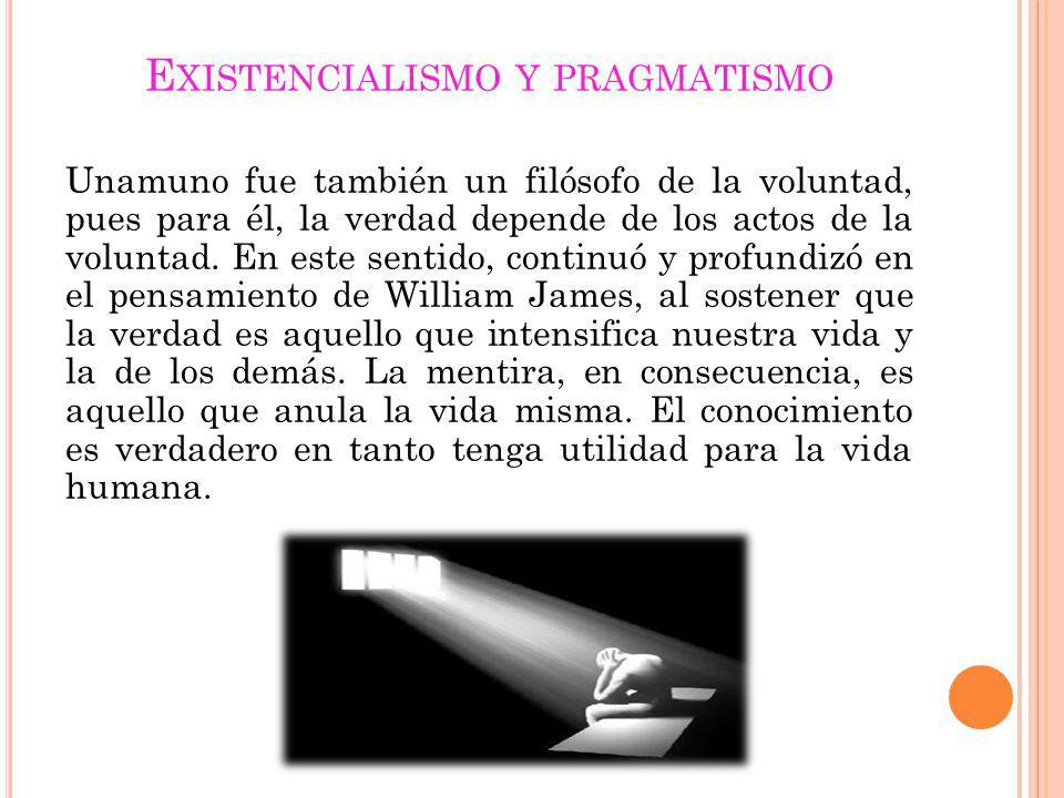Existencialismo y pragmatismo