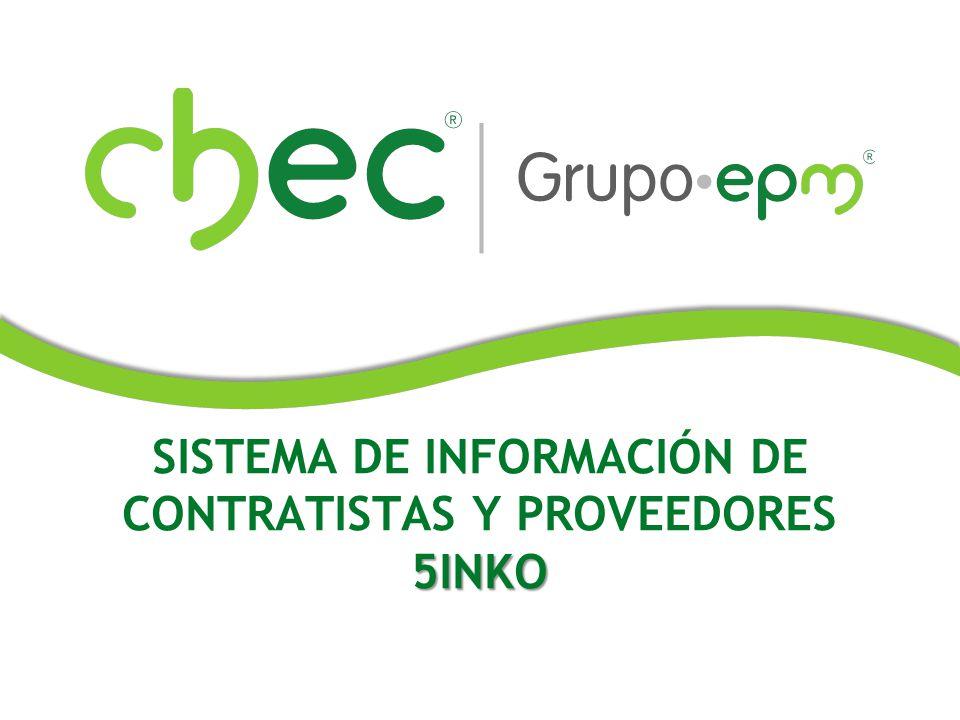 SISTEMA DE INFORMACIÓN DE CONTRATISTAS Y PROVEEDORES