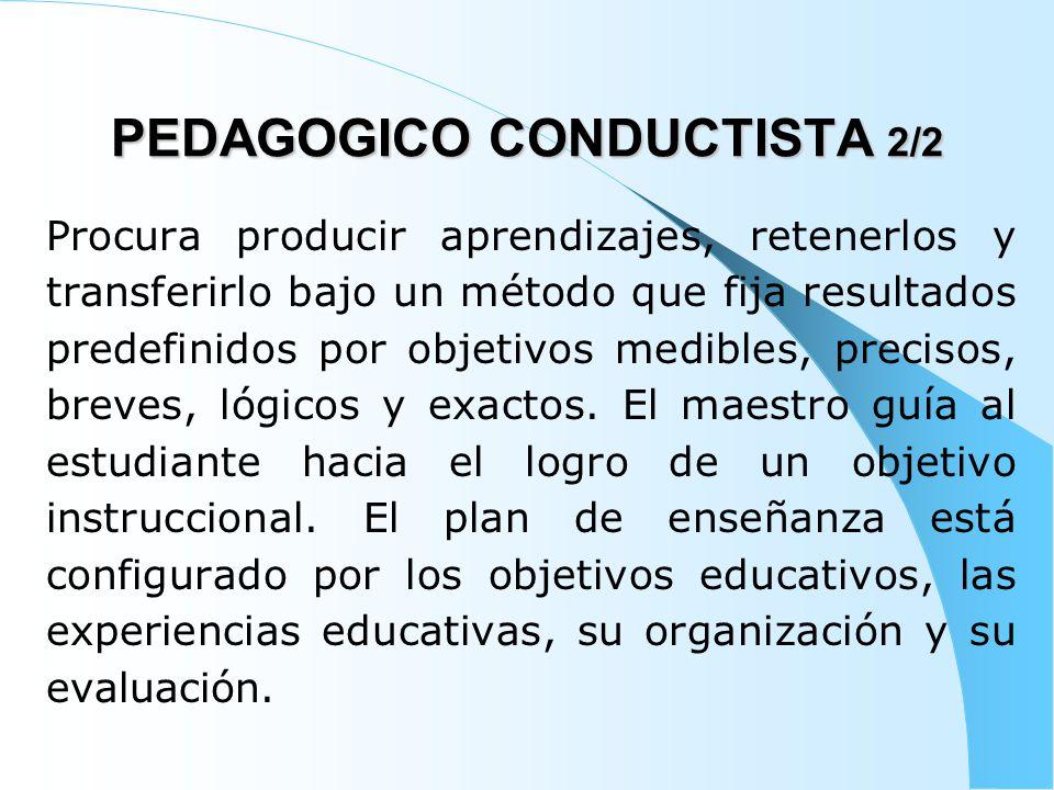 PEDAGOGICO CONDUCTISTA 2/2
