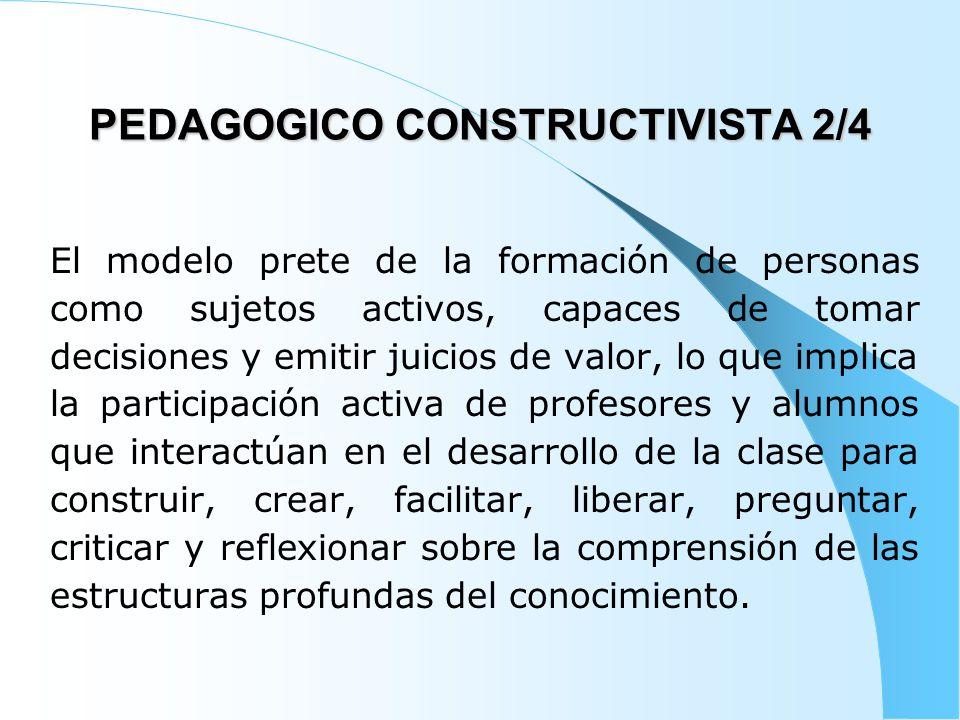 PEDAGOGICO CONSTRUCTIVISTA 2/4