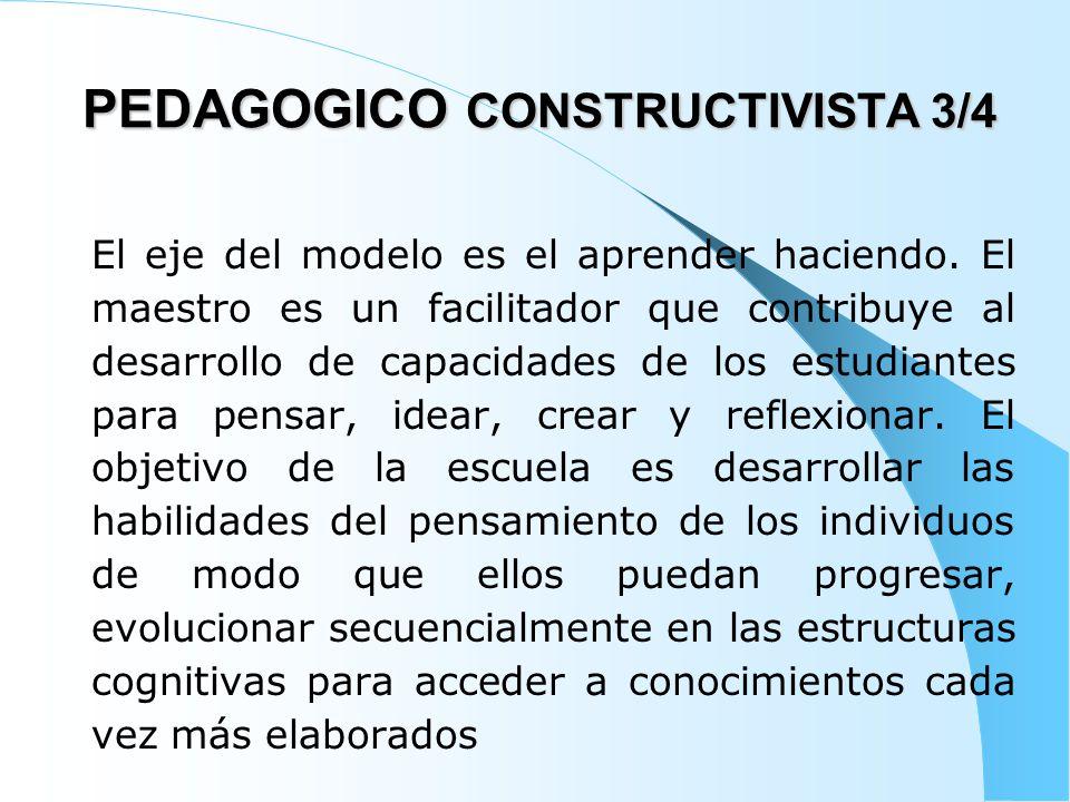 PEDAGOGICO CONSTRUCTIVISTA 3/4