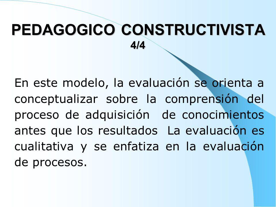 PEDAGOGICO CONSTRUCTIVISTA 4/4