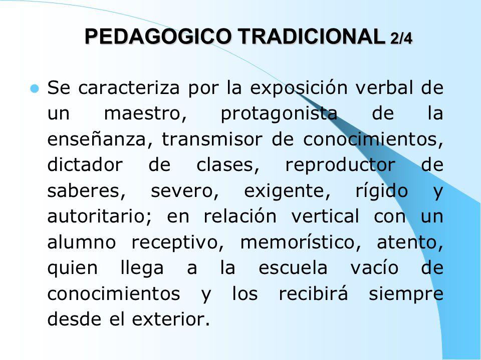 PEDAGOGICO TRADICIONAL 2/4