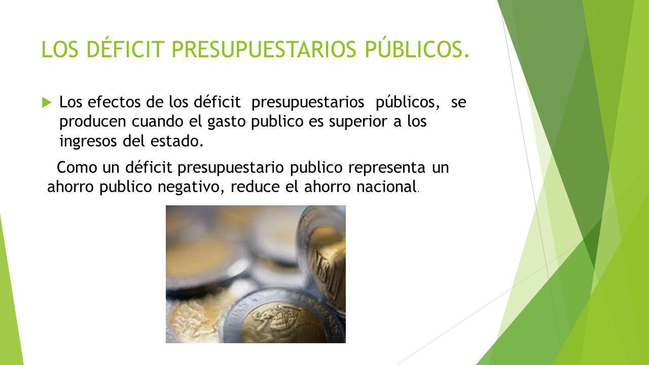 LOS DÉFICIT PRESUPUESTARIOS PÚBLICOS.