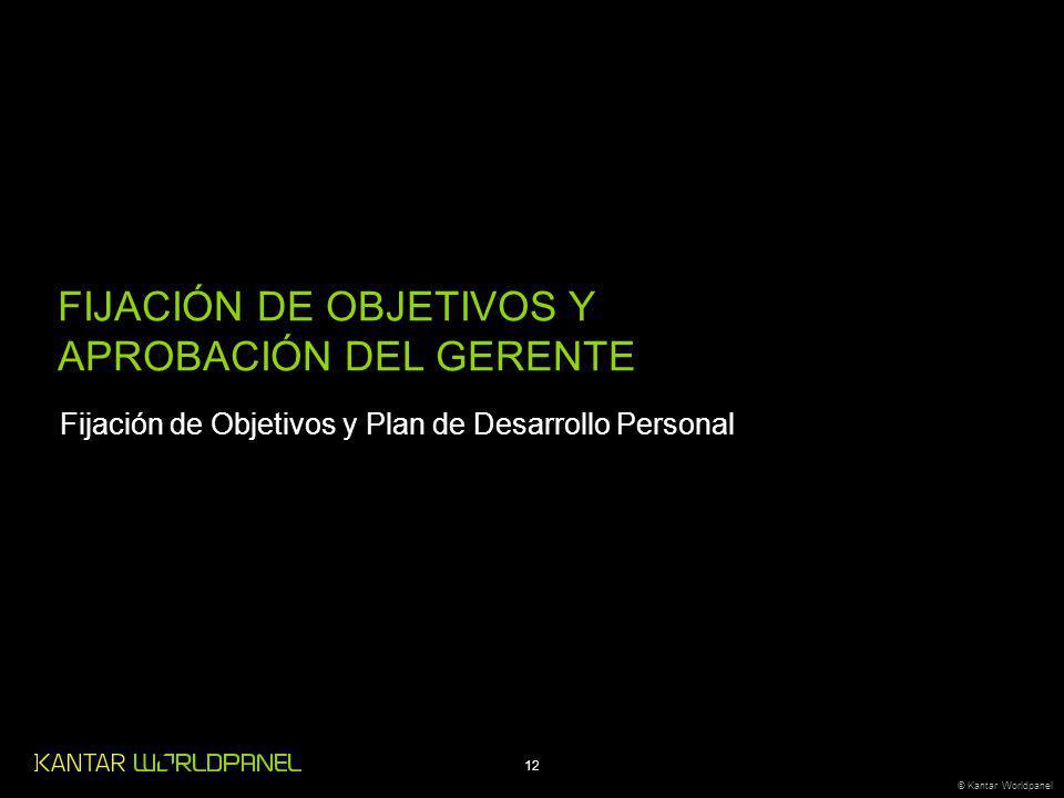 FIJACIÓN DE OBJETIVOS Y APROBACIÓN DEL GERENTE