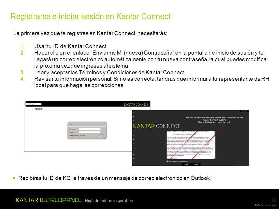 Registrarse e iniciar sesión en Kantar Connect
