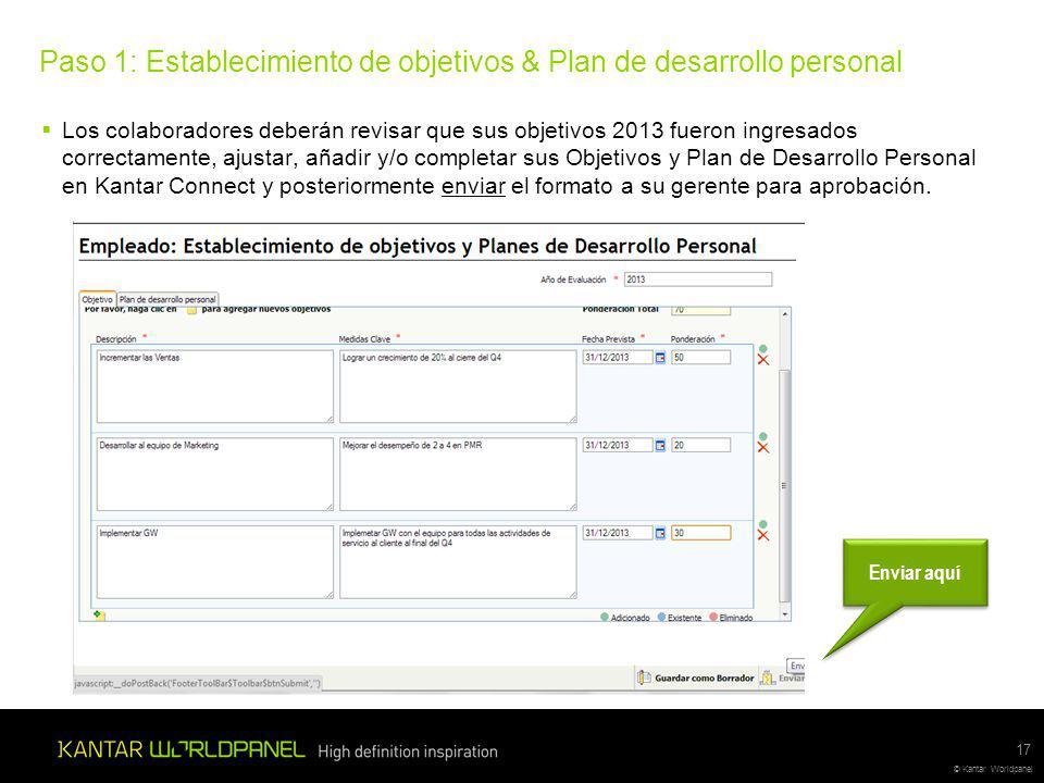 Paso 1: Establecimiento de objetivos & Plan de desarrollo personal