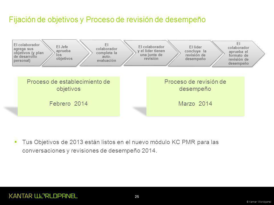 Fijación de objetivos y Proceso de revisión de desempeño