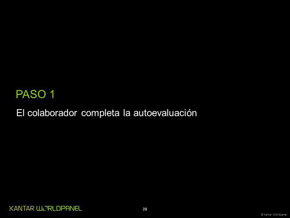PASO 1 El colaborador completa la autoevaluación