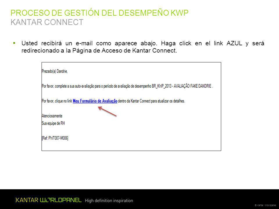 PROCESO DE GESTIÓN DEL DESEMPEÑO KWP KANTAR CONNECT