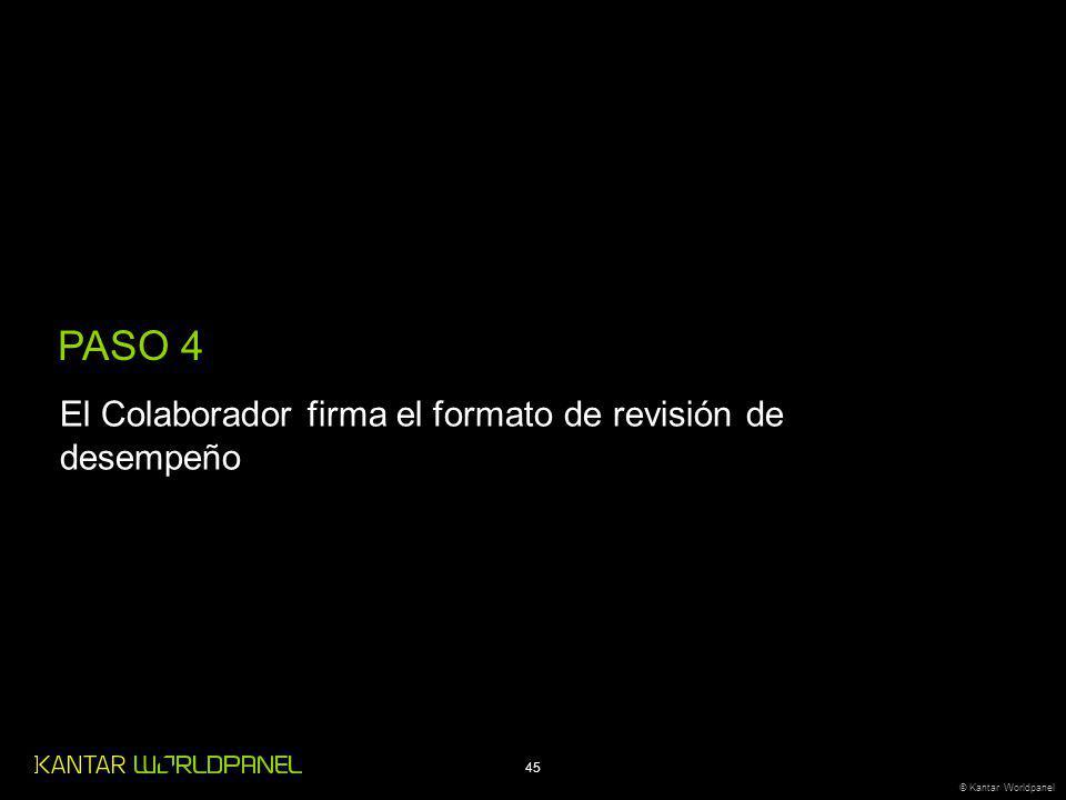 PASO 4 El Colaborador firma el formato de revisión de desempeño