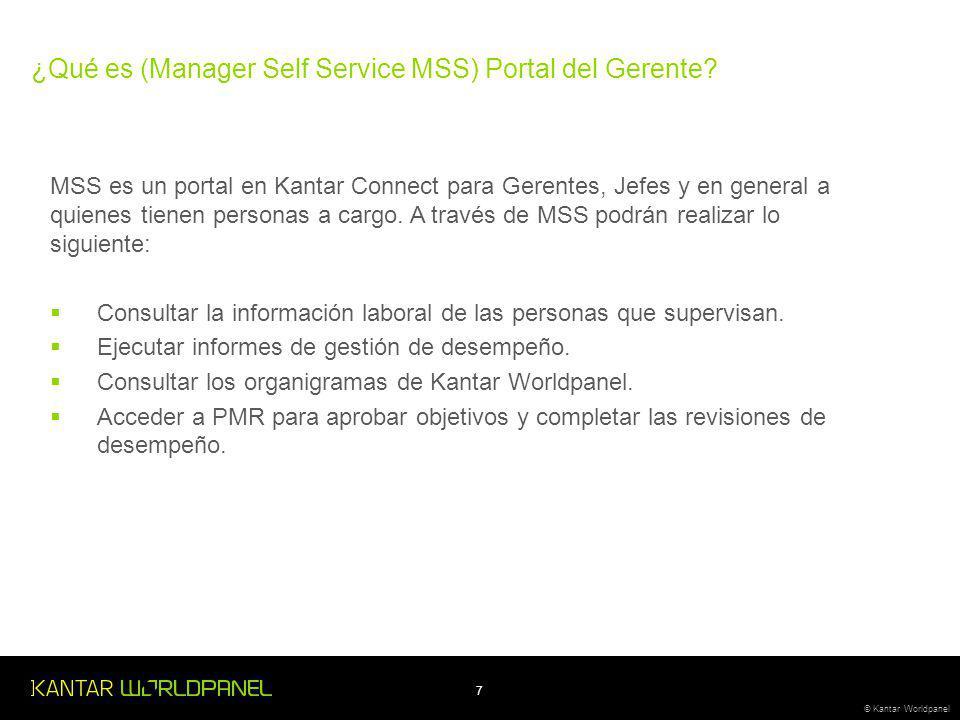 ¿Qué es (Manager Self Service MSS) Portal del Gerente