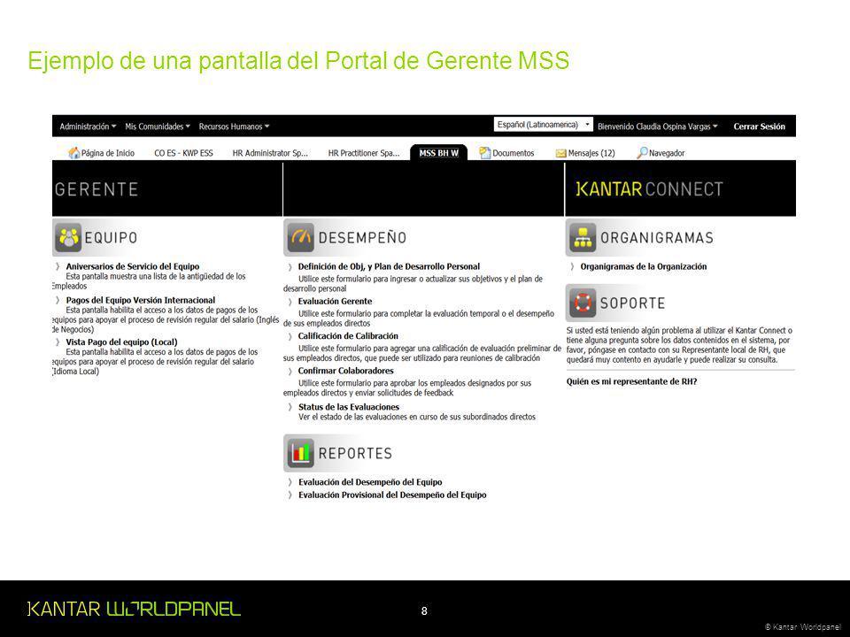 Ejemplo de una pantalla del Portal de Gerente MSS