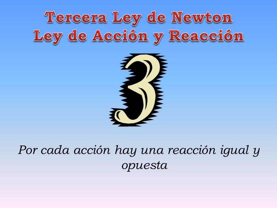 Tercera Ley de Newton Ley de Acción y Reacción