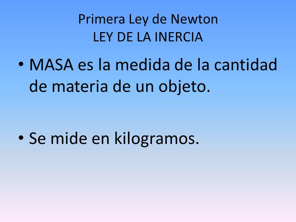 Primera Ley de Newton LEY DE LA INERCIA