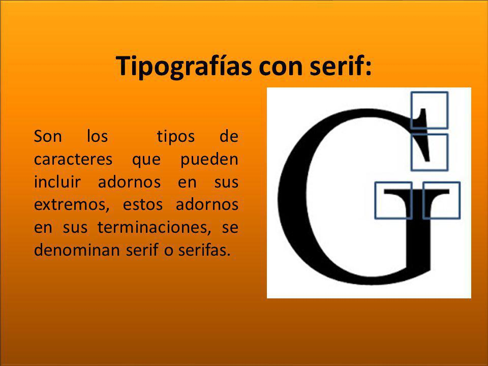 Tipografías con serif: