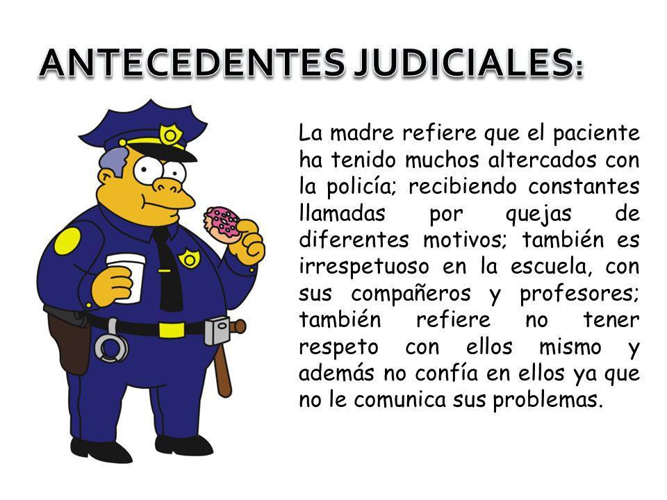ANTECEDENTES JUDICIALES:
