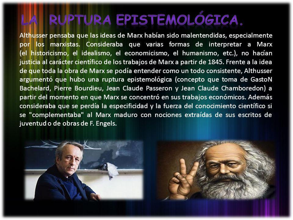 La ruptura epistemológica.