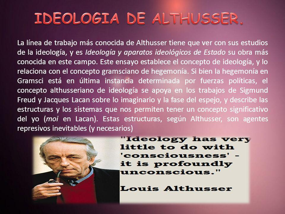 IDEOLOGIA DE ALTHUSSER.
