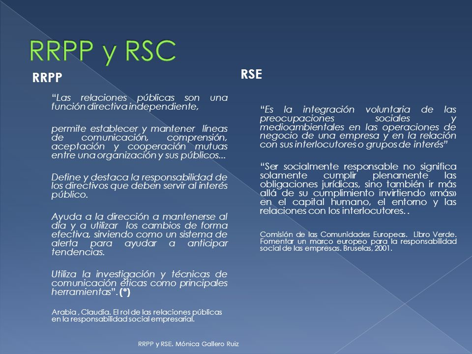 RRPP y RSC RSE.