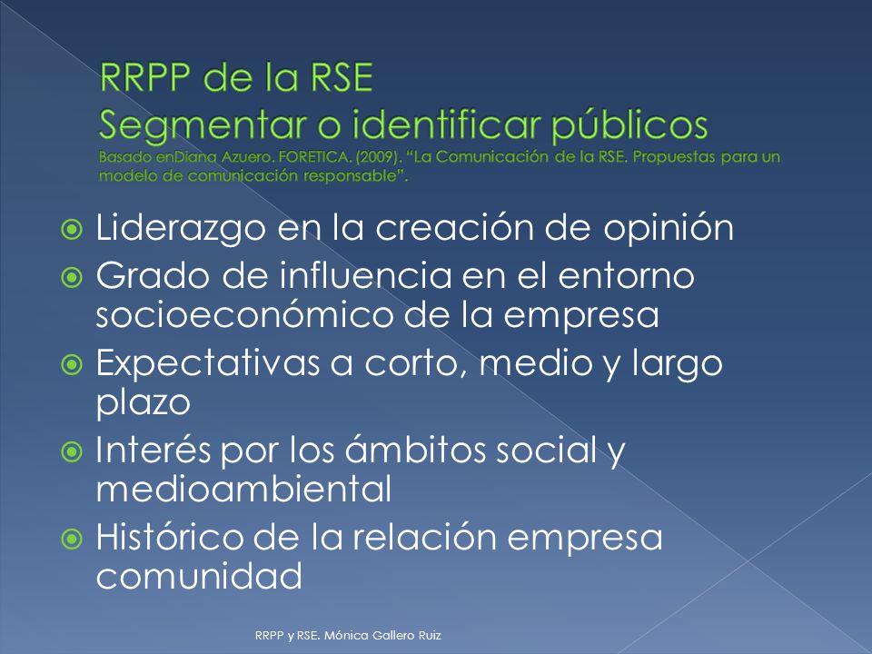 RRPP de la RSE Segmentar o identificar públicos Basado enDiana Azuero