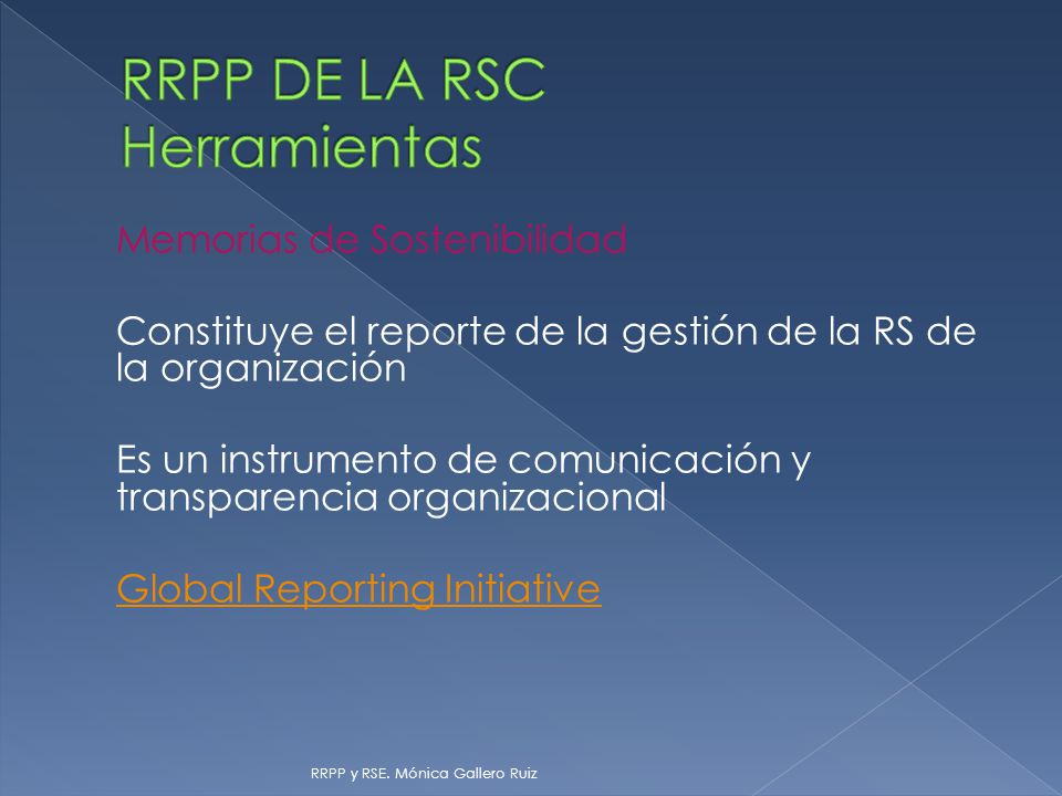 RRPP DE LA RSC Herramientas