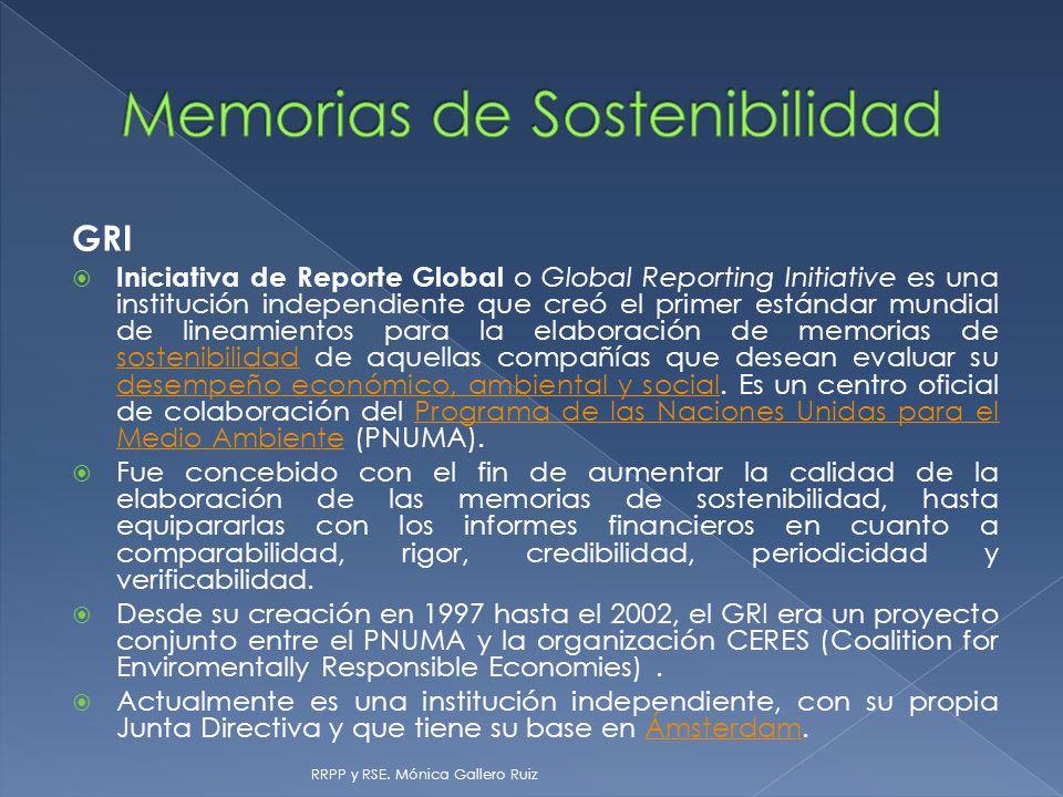 Memorias de Sostenibilidad