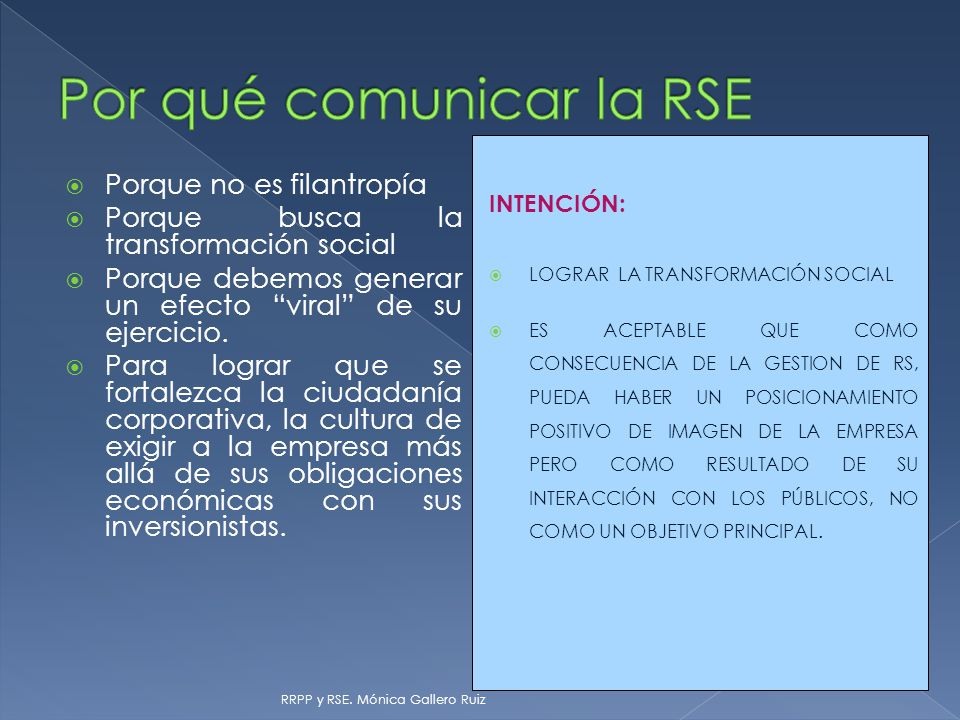 Por qué comunicar la RSE