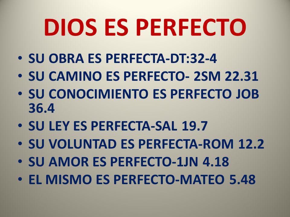 DIOS ES PERFECTO SU OBRA ES PERFECTA-DT:32-4