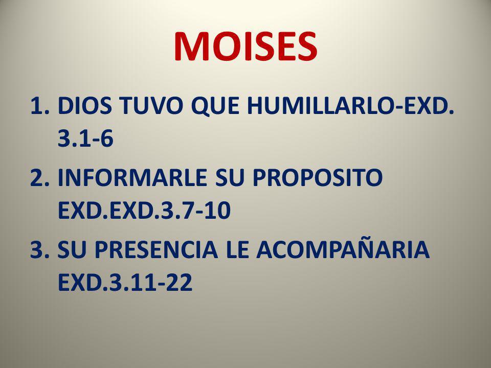 MOISES DIOS TUVO QUE HUMILLARLO-EXD. 3.1-6