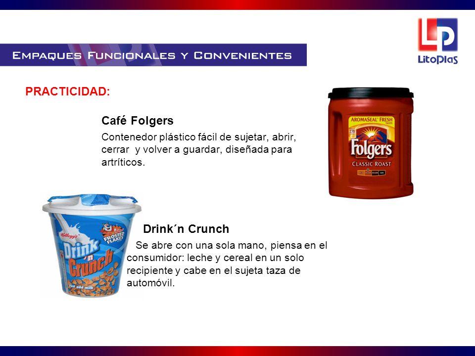 PRACTICIDAD: Café Folgers Drink´n Crunch