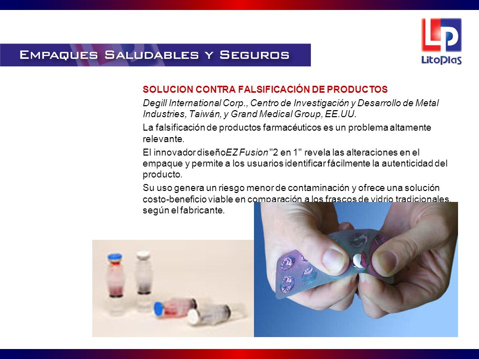 SOLUCION CONTRA FALSIFICACIÓN DE PRODUCTOS Degill International Corp