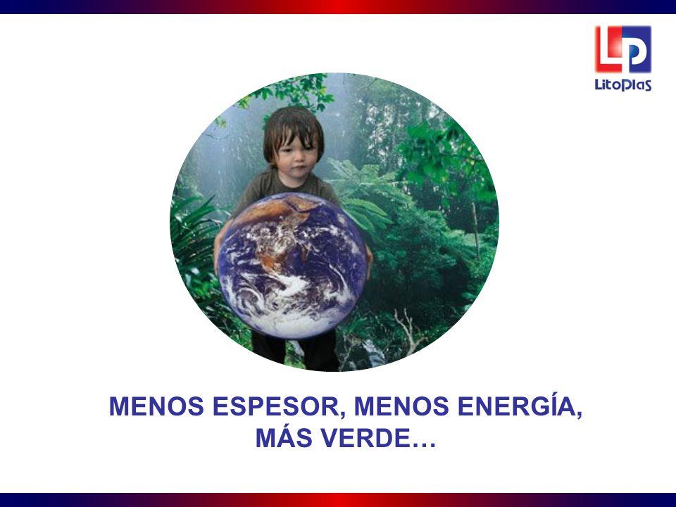 MENOS ESPESOR, MENOS ENERGÍA,