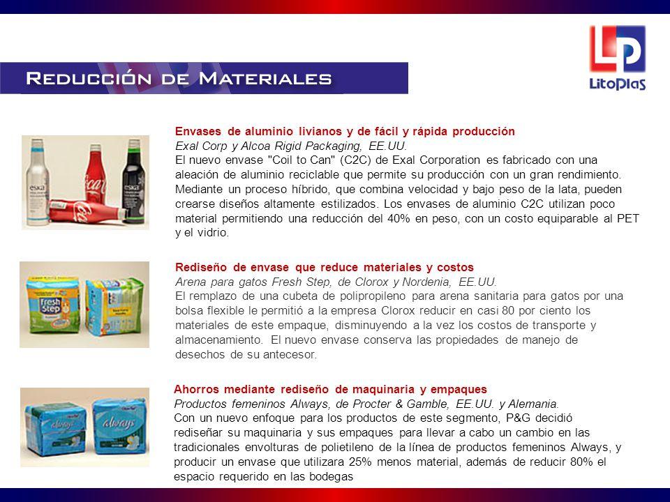 Envases de aluminio livianos y de fácil y rápida producción