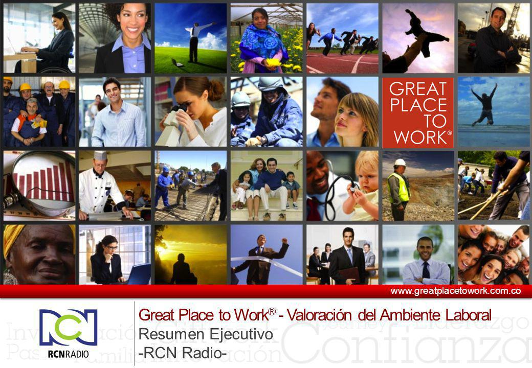 www.greatplacetowork.com.co Great Place to Work® - Valoración del Ambiente Laboral Resumen Ejecutivo.