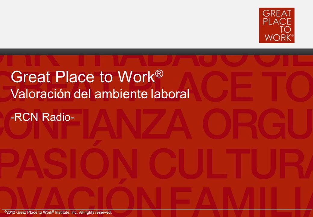 Great Place to Work® Valoración del ambiente laboral -RCN Radio-