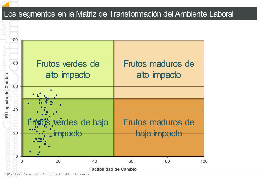 Los segmentos en la Matriz de Transformación del Ambiente Laboral